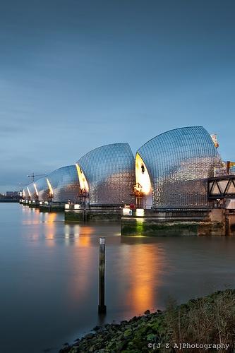 Thames Barrier, River Thames, London, UK