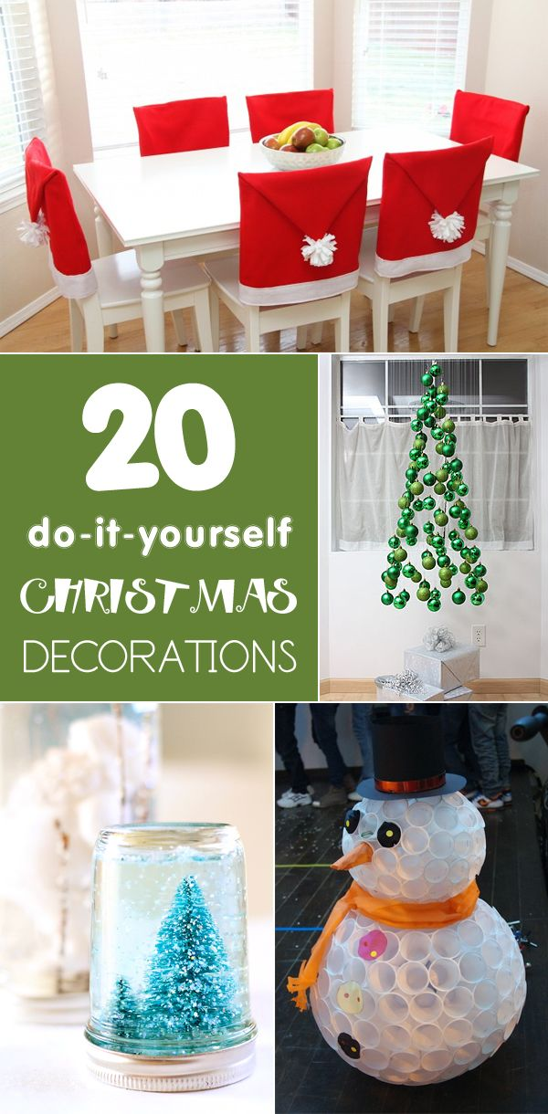 Decorate your home for the holidays with these easy DIY Christmas craft ideas!