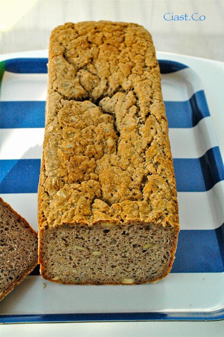 chleb z mąki gryczanej, chleb bezglutenowy, chleb gryczany, chleb z ziarnami,