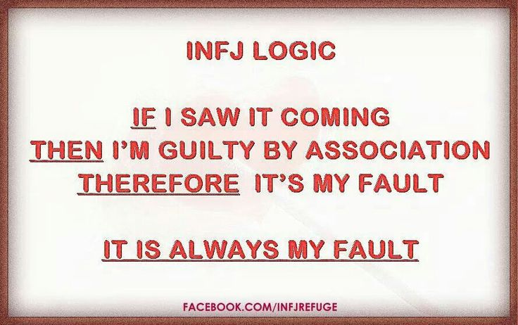 If I saw it coming then I'm guilty by association. Therefore it's always my fault. Oh yes, I can relate!