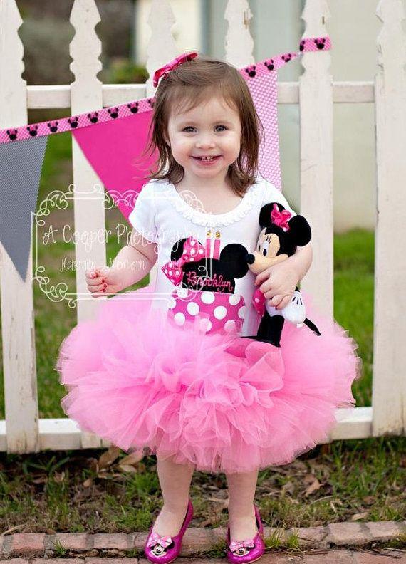 Minnie Mouse Inspired Hot Pink Birthday Cake Tutu by PiggyHadTea, $48.00
