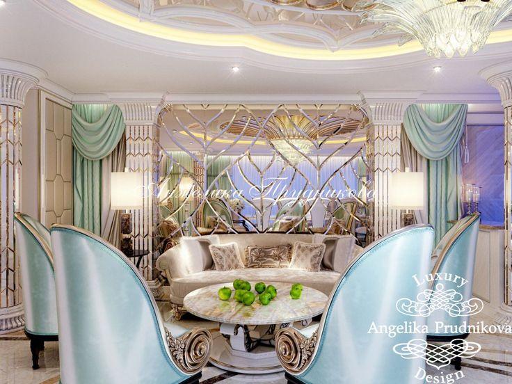 Дизайн проект интерьера квартиры в стиле Ар Деко в ЖК Кутузовская Ривьера. Фото 2017 - Дизайн квартир