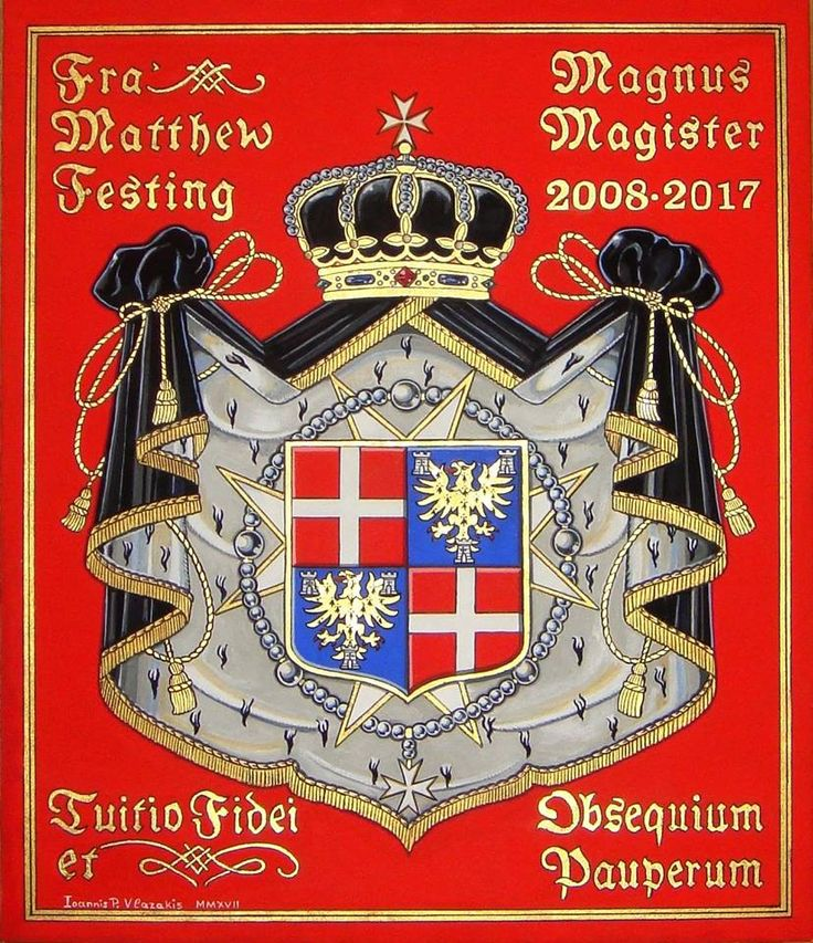 Fra Matthew Festing coat of arms, by Ioannis Vlazakis 2017