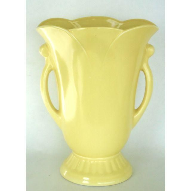 Image of 1940's Style Yellow Vase