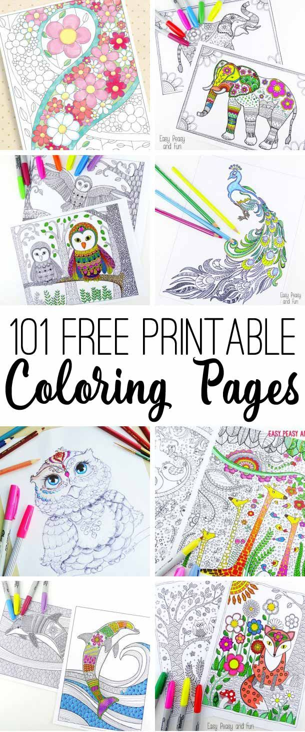 Such a beautiful collection of free adult coloring pages. I can get lost working on these for days!