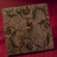 """Wooden engraved Table clock - the perfect gift    Size:(H)6"""" x (W) 6"""""""