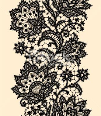 Dentelle, Fleur, Motif, Motif floral, Retour du rétro Illustration vectorielle libre de droits