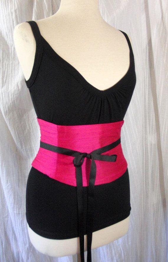 Taille Cincher Korsett Gürtel heißen rosa Seide jeder Größe Custom B letzte