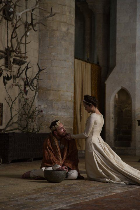 Lord and Lady Macbeth - Michael Fassbender and Marion Cotillard in Macbeth, set in the 11th century (2015).