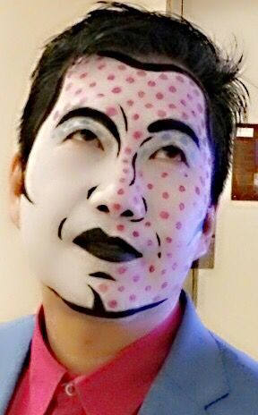 Pop Art makeup (Courtesy of Adam from Illamasqua Sydney) for the Pop Art Party @ the Art Gallery of NSW.