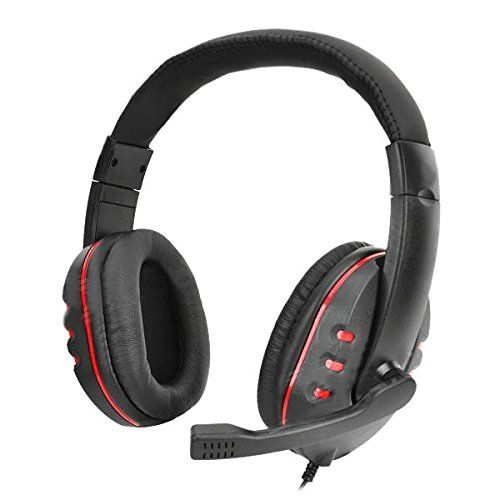 Special Offers - Bestwinner Gaming Earphone Headset Headphones w/ Microphone / Voice Control for PS4  Black  Red (3.5mm Plug / 120cm) - In stock & Free Shipping. You can save more money! Check It (November 06 2016 at 06:55PM) >> http://eheadphoneusa.net/bestwinner-gaming-earphone-headset-headphones-w-microphone-voice-control-for-ps4-black-red-3-5mm-plug-120cm/