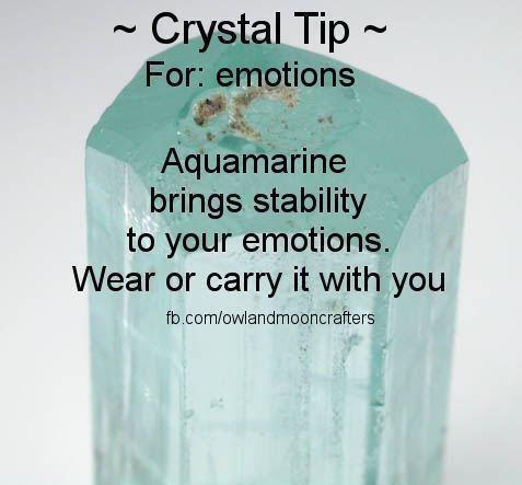 Crystal Tip- Aquamarine