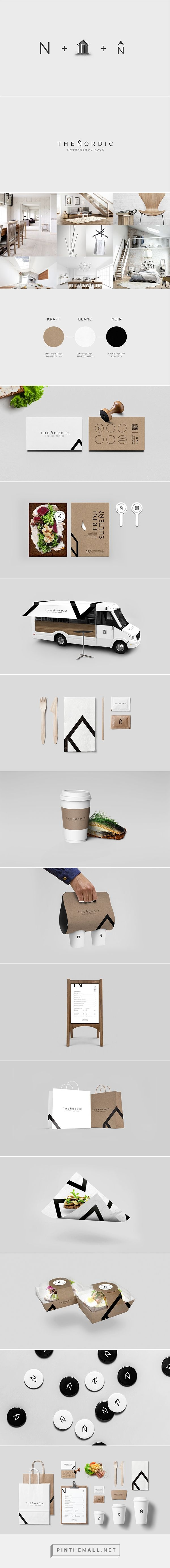 The Nordic | Food Truck on Behance by Alexandre Pietra curated by Packaging Diva PD. The Nordic is a visual packaging identity created for a scandinavian Food Truck.