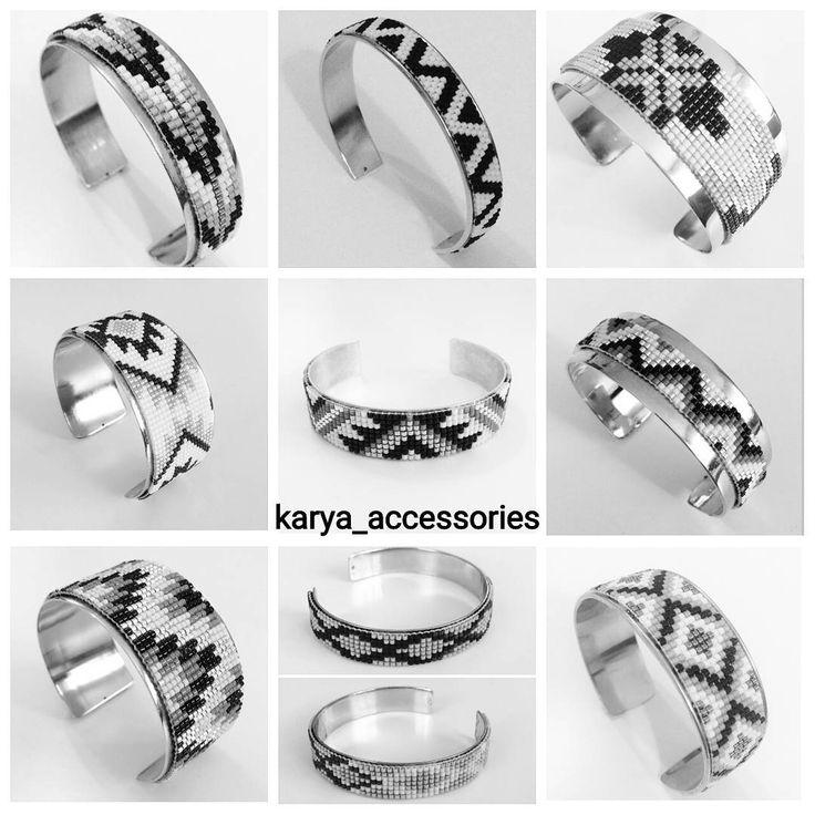 Siyah-beyaz-gümüş kelepçe bilezikler... #miyuki #miyukibileklik #miyukiboncuk #miyukikolye #miyukiküpe #takı #trend #tasarım #özeltasarım #sipariş #siparişalınır #hediyelik #hediyelikeşya #aksesuar #altın #gümüş #kelepçebileklik #siyah #beyaz #tagsforlikes #igers #accessories #beauty #fashion
