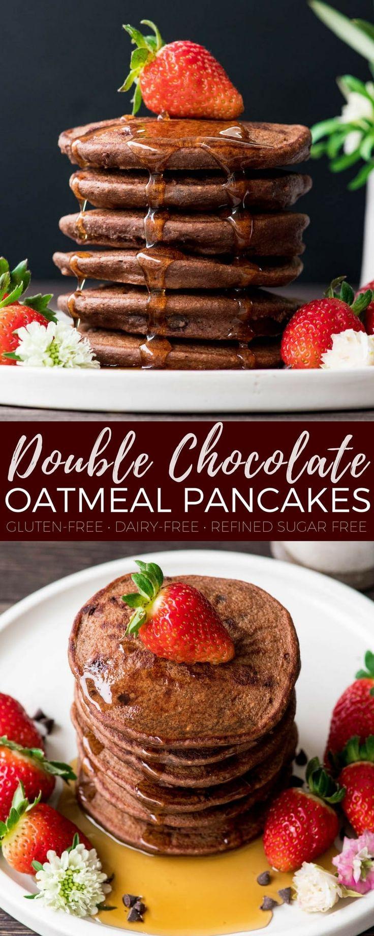 Gluten-free Double Chocolate Oatmeal Pancakes (& Video) - Joyfoodsunshine
