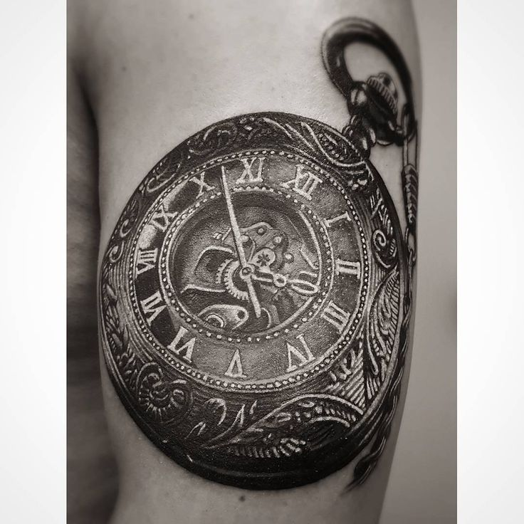 """Gefällt 25 Mal, 2 Kommentare - MDK.INK (@mdk.ink.official) auf Instagram: """"Der Anfang eines Sleeves #mdkink #tattoo #art #design #sleeve #clock #bg"""""""