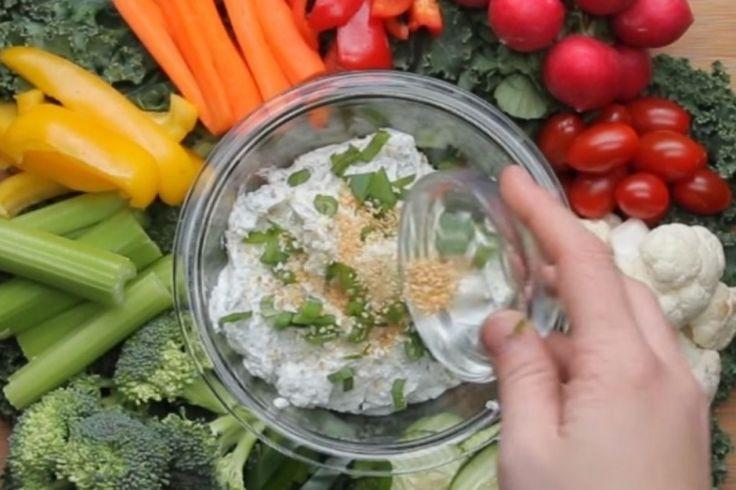 Trempette santé au yogourt grec...la référence quand on parle de trempette à légumes                                                                                                                                                                                 Plus