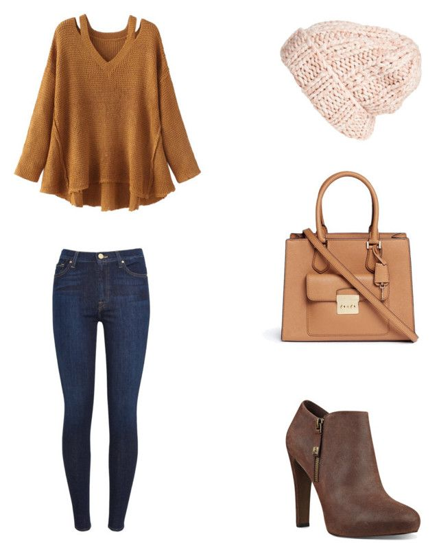 Bez tytułu #68 by wiki208 on Polyvore featuring moda, WithChic, 7 For All Mankind, Nine West, Michael Kors and Free People