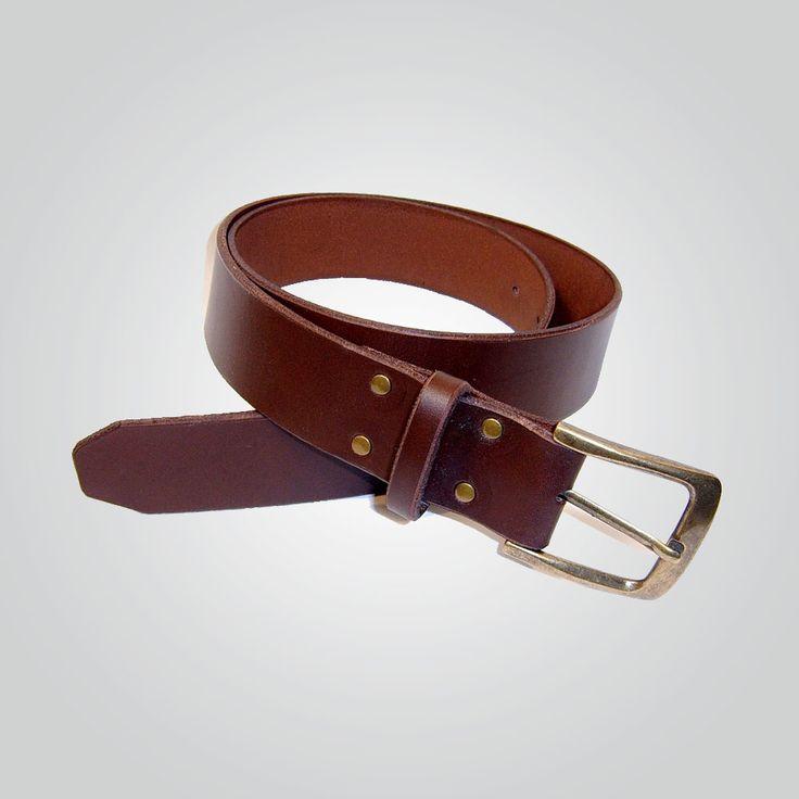 Cinturón 3,5 cm marrón-oro viejo