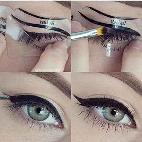 Este molde de olho de gato ajudará você a passar delineador do jeito mais impecável possível.