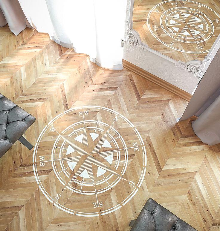 Rose Of Wind Stencil   Compass Stencil   Circular Stencil   Large Wall And Floor  Stencil