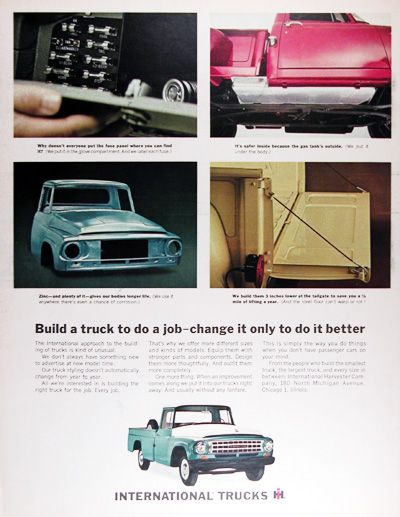 17 best images about vintage truck advertising semi 1964 international harvester pickup truck original vintage advertisement build a truck to do a job · fuse panela