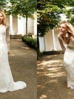 Chloe Hippie Boho Vintage Brautkleid mit langem Arm und Spitze ...