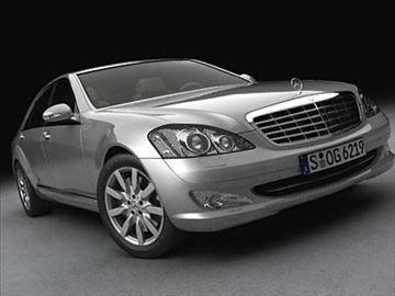 Mercedes S Class 2006 3D Model-   The Tradition of Innovation. Take a seat in the new S-Class � and enjoy today the safety technologies of tomorrow.The S-Class first impresses you with its elegant lines. Then it simply becomes a joy to the senses � fine leather, the maximum in comfort, and engines that deliver the ultimate in performance. All this proves that the S-Class has truly become a synonym for Top Class in automobiles.         Polygonaly made mesh with all parts selectable and…