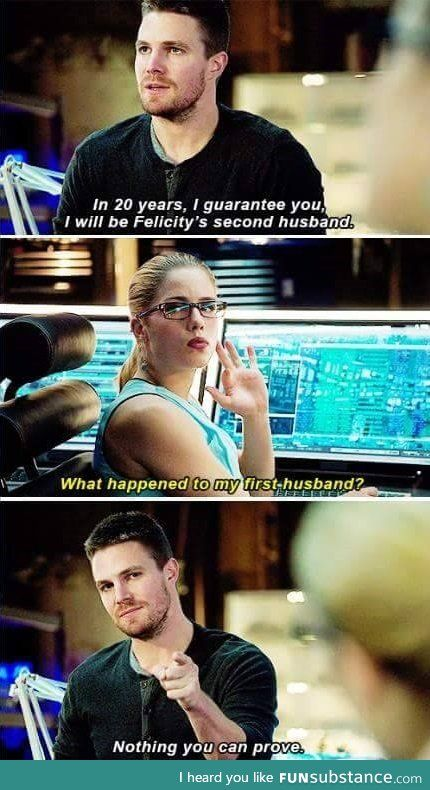 Stephen Amell just posted this on Facebook. I think it would be funny if it was Diggle in the last picture.