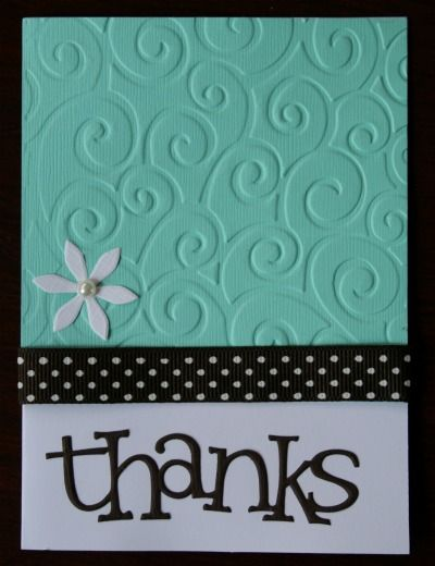 A Handmade Tale: Thank You Cards