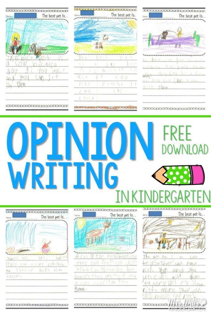 Writing Opinions in Kindergarten