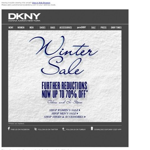 Donna Karan / DKNY - Sale Now 70% Off - Further Reductions Taken