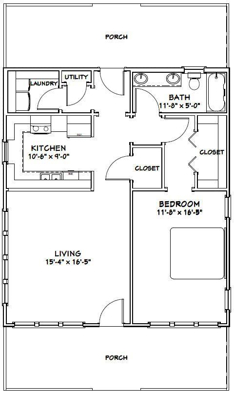 Sensational 17 Best Ideas About Guest House Plans On Pinterest Small Cottage Largest Home Design Picture Inspirations Pitcheantrous