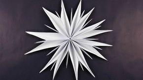 Stern aus Kopierpapier basteln ❁ Deko Ideen mit …