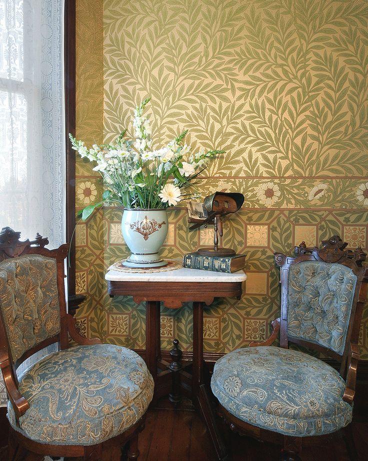 B.J. Talbert Wallpaper Roomset | Bradbury & Bradbury #bradburywallpaper