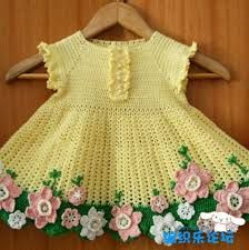 Resultado de imagem para Vestidinhos de trico e de croche para bebe menina