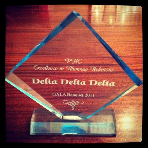 Theta Theta, Nevada, was awarded Excellence in Alumnae Relations.