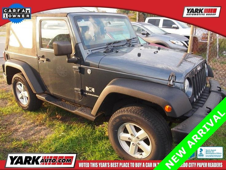 This 2007 Jeep Wrangler X is listed on Carsforsale.com for $14,725 in Toledo, OH. This vehicle includes Easy Folding SoftTop,6 Speakers,AM/FM CD/MP3 Radio,AM/FM radio,CD player,MP3 decoder,Radio data system,Power steering,Normal Duty Suspension,Traction control,4-Wheel Disc Brakes,ABS brakes,Dual front impact airbags,Front anti-roll bar,Integrated roll-over protection,Occupant sensing airbag,Rear anti-roll bar,Brake assist,Electronic Stability Control,Driver door bin,Tachometer,Tilt…