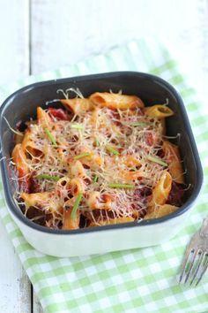 Paprika pasta-ovenschotel - Lekker en Simpel