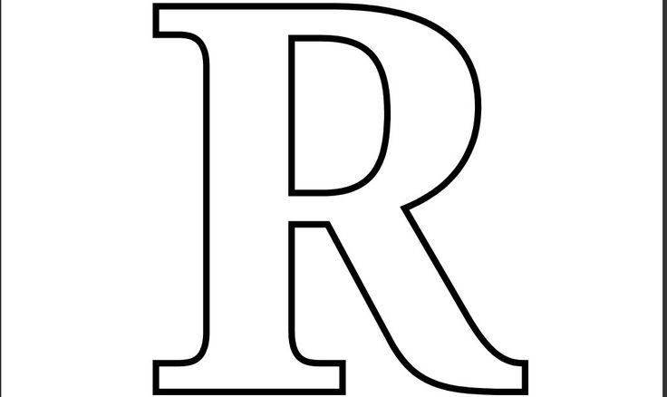 Printable PDF Letter R Coloring Page.