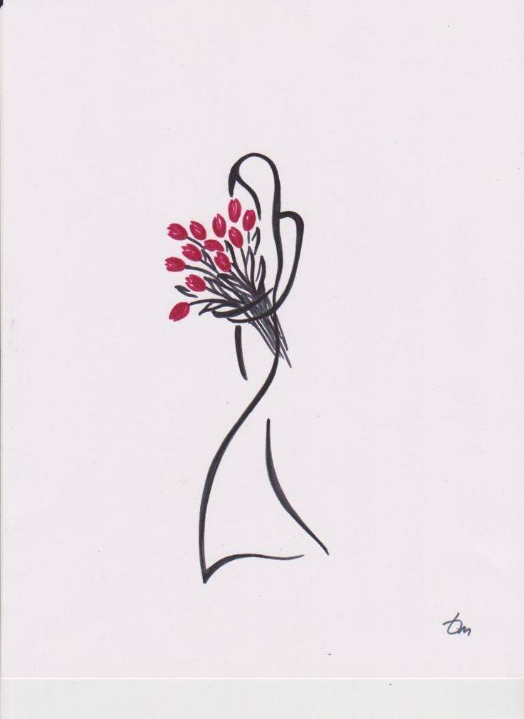 "Saatchi Art Artist Tatyana Markovtsev; Drawing, ""tulips"" #art"
