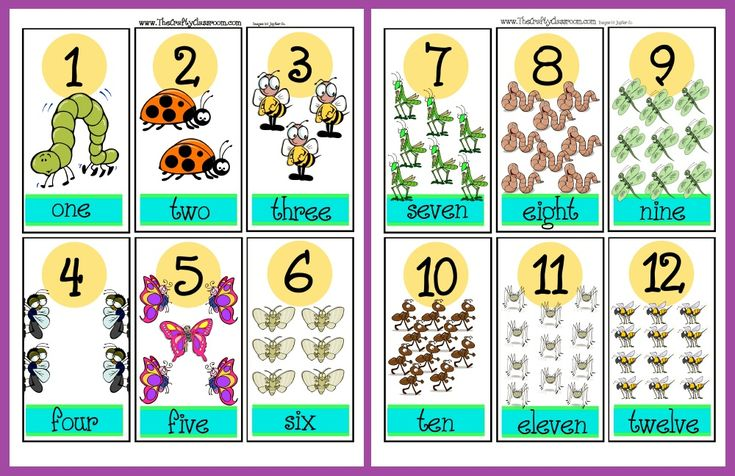 Counting and Number Recognition Preschool Printables