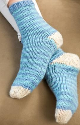 Relax at Home Knit Socks Free Pattern from Red Heart Yarns