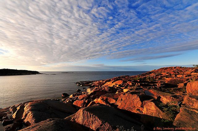 This is from beautiful Åland, Geta, Havsvidden. The most northern part of Åland.  Red granite everywhere