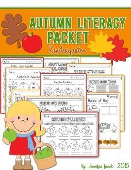 Autumn Theme Literacy Packet: Kindergarten