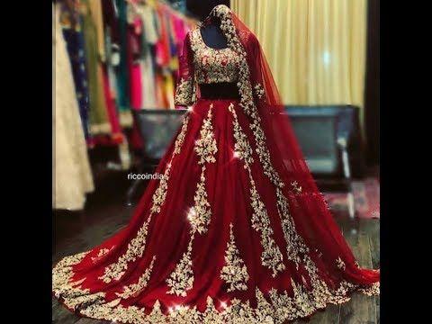 افخم واحدث تشكيلة مودرن من الساري الهندي و اللباس الهندي التقليدي 2018 2019 Youtube Indian Bridal Outfits Bridal Dresses Pakistan Indian Bridal Dress