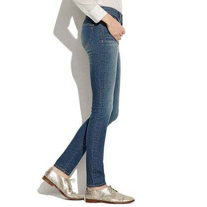 skinnies + silver shoes