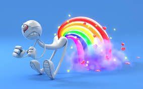Pooping rainbows
