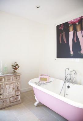 Roze badkuip