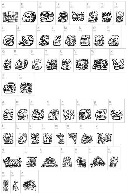 Pin Mayan Font For Word Eyesforyourimage On Pinterest